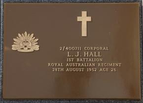 Profile pic leslie james hall memorial plaque