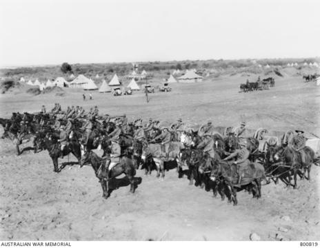 Normal 9th light horse transport of the 9th australian light horse regiment on parade january 1919