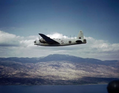 Normal wellington gr.xii 221 sqn raf over greece 1945