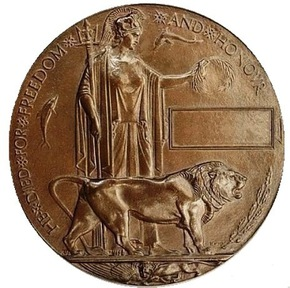 Profile pic commemorative plaque    dead man s penny