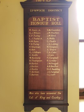 Normal ipswich district baptist honour roll