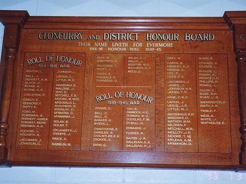 Normal cloncurry honour board