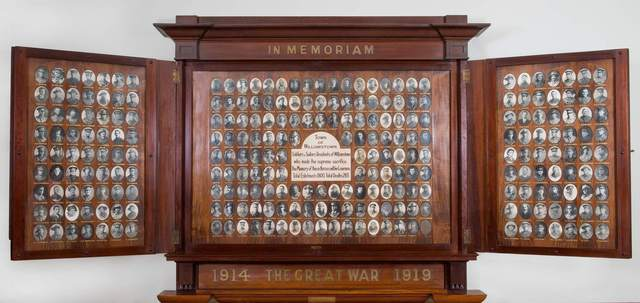 Normal cropped williamstown town hall honour board open