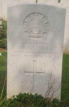 Profile pic irons  ralph granville headstone