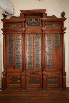 Normal york town hall ww1 honour board photocredit greg manzie