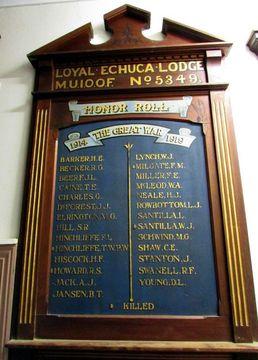 Normal loyal echuca lodge muioof no 5349 honour roll 77888 112892