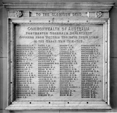 Normal murray rasmussen   cropped v7526 02 pmg vic officers killed in action ww1 elizabeth st post office