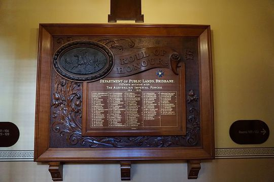 Normal first world war honour board  lands administration building