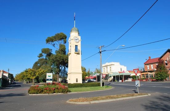 Normal woodend war memorial clock tower