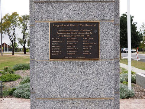 Normal boer war panel of the bungendore and district war memorial february 2015