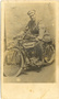 Thumb jack craig as a dispatch rider on an indian motor cycle