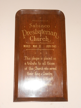 Normal subiaco presbyterian church wwii   now hanging in the leederville town hall  82 cambridge st  west leederville wa