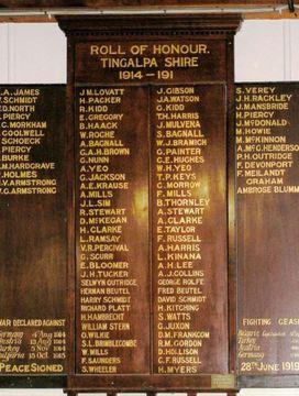 Normal tingalpa shire honour roll