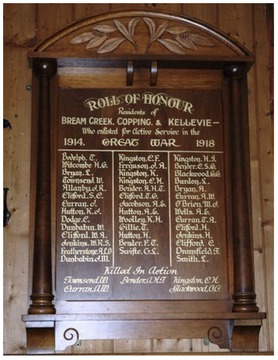 Normal roll of honour copping hall ww1