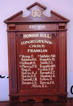 Normal franklin congregational church hr