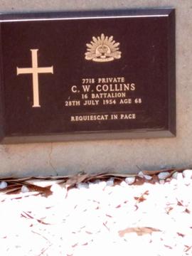 Profile pic private c w collins kalgoorlie cemetery