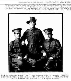 Profile pic 1916 west australian heroes