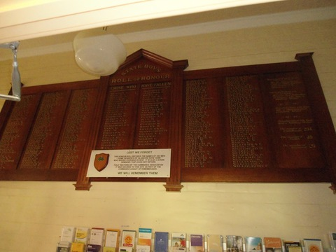 Normal state boys honour roll board