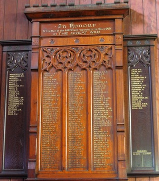 Normal christ church milton honour board