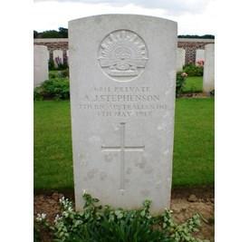 Profile pic grave of pte arthur james stephenson naa