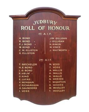 Normal judbury roll of honour