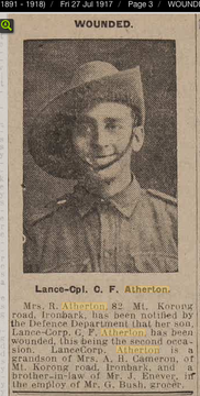 Profile pic atherton photo wounded bgo indp 27 07 1917