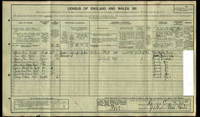 Profile pic penfold harrison george william   1911   census of england wales  penfold family