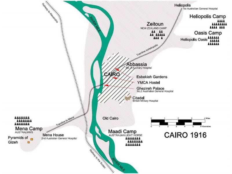 RSL Virtual War Memorial George William Buppy SHAPLEY MBE MiD - Map of zeitoun egypt