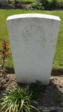 Profile pic preston stanley william rupert   marble headstone in caestre war cemetery