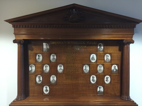Normal melbourne commonwealth meteorological bureau honour roll 1914   1918