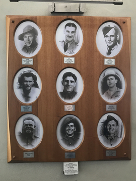 Normal coffs harbour surf life saving club ww2 pictorial honour board