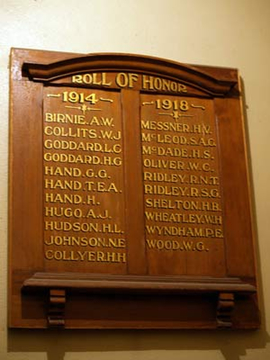 Normal forbes uniting church honour board