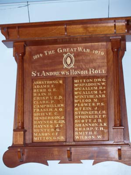 Normal grenfell uniting church honour board