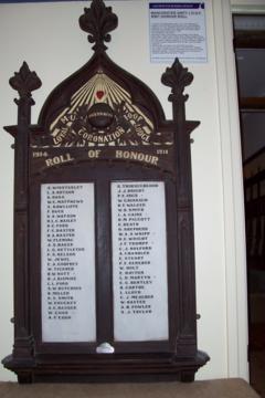 Normal golulburn muioof loyal coronation lodge ww1 roll of honour