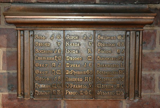 Normal plaque on dining hall hearth listing those who served in south african war wiki