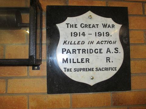 Normal walcha nine mile memorial plaque