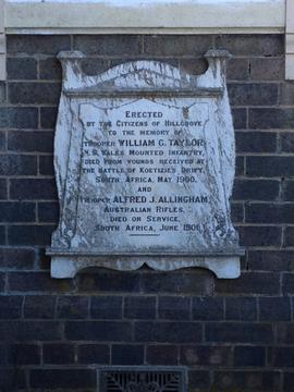 Normal hillgrove boer war plaque 1