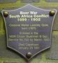 Thumb hunters hill boer war plaque