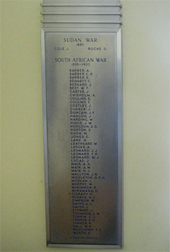 Normal yass sudan and boer war honour roll