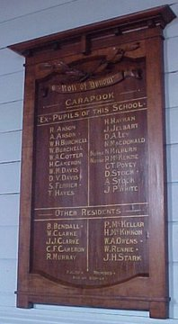 Normal carapook state school roll of honour