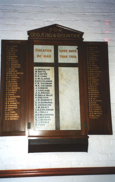 Normal smithfield st james anglican church honour board