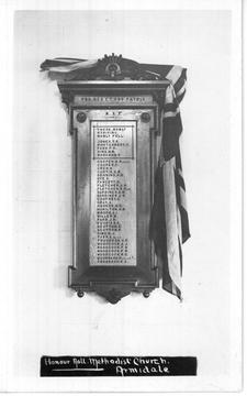 Normal armidale methodist church honour board