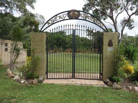 Normal cooktown anzac cemetery memorial gates