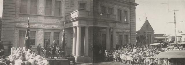 Normal renamark soldiers memorial hall opening