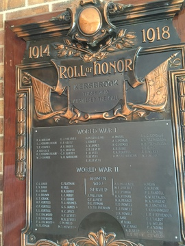 Normal kersbrook roll of honour