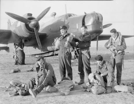 Normal 40 squadron aircrew preparing for a mission