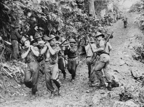 Normal australian 29th 46th inf bn at guisika in november 1943  awm image 016298