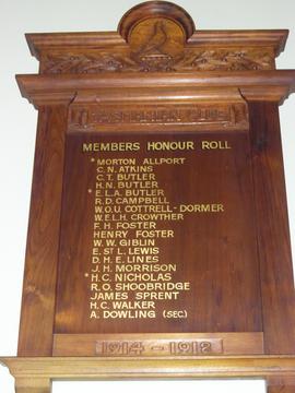 Normal tasmanian club honour roll