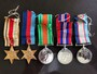 Thumb knight  e.a.w. medal set  less 8th army clasp on the africa star