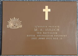 Profile pic aulich  maxwell augustus    memorial plaque   find a grave